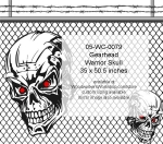 05-WC-0079 - Gearhead Warrior Skull No. 3 Yard Art Woodworking Pattern