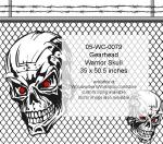 Gearhead Warrior Skull No. 3 Yard Art Woodworking Pattern