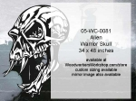 Alien Warrior Skull No.5 Yard Art Woodworking Pattern