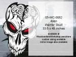 Alien Warrior Skull No. 6 Yard Art Woodworking Pattern