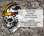 Crusader Warrior Skull Yard Art Woodworking Pattern, skulls,skeleton heads,aliens,fangs,Halloween yard art decorations,painting wood crafts,scrollsawing patterns,drawings,plywood,plywoodworking plans,woodworkers projects,workshop blueprints