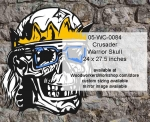 05-WC-0084 - Crusader Warrior Skull No.8 Yard Art Woodworking Pattern