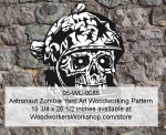 05-WC-0085 - Astronaut Skull Halloween Woodworking Pattern