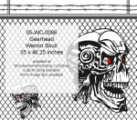 05-WC-0086 - Gearhead Warrior Skull Yard Art Woodworking Pattern