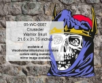 05-WC-0087 - Crusader Warrior Skull Yard Art Woodworking Pattern
