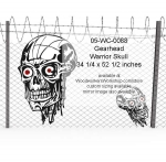 05-WC-0088 - Gearhead Warrior Skull Yard Art Woodworking Pattern