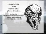 05-WC-0089 - Alien Warrior Skull Yard Art Woodworking Pattern
