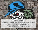 Baseballer Zombie Halloween Woodworking Pattern