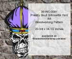 Priestly Skull Halloween Pattern