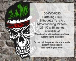05-WC-0093 - Earthling Skull Halloween Pattern