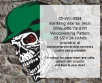 05-WC-0094 - Earthling Skull Halloween Pattern