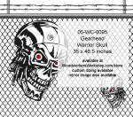 Gearhead Warrior Skull Yard Art Woodworking Pattern