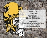 05-WC-0097 - Crusader Warrior Skull Yard Art Woodworking Pattern