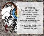 Earthling Warrior Skull Halloween Pattern
