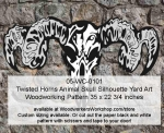05-WC-0101 - Twisted Horns Animal Skull Halloween Pattern