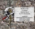 Crusader Warrior Skull Yard Art Woodworking Pattern