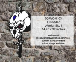 Crusader Warrior Skull Yard Art Woodworking Pattern