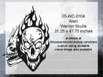 05-WC-0104 - Alien Warrior Skull Yard Art Woodworking Pattern