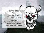 Alien Warrior Skull Yard Art Woodworking Pattern