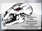 05-WC-0112 - Alien Warrior Skull Yard Art Woodworking Pattern