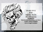 05-WC-0113 - Alien Warrior Skull Yard Art Woodworking Pattern