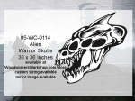 Alien Warrior Skull Yard Art Woodworking Pattern