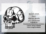 05-WC-0115 - Alien Warrior Skull Yard Art Woodworking Pattern