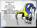 Court Jester Warrior Skull Yard Art Woodworking Pattern