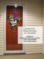 Flower Girl Skull Halloween Pattern