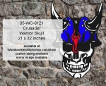 05-WC-0121 - Crusader Warrior Skull Yard Art Woodworking Pattern
