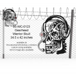 05-WC-0123 - Gearhead Warrior Skull Yard Art Woodworking Pattern