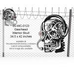 Gearhead Warrior Skull Yard Art Woodworking Pattern