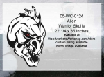 05-WC-0124 - Alien Warrior Skull Yard Art Woodworking Pattern