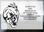 Alien Warrior Skull Yard Art Woodworking Pattern, skulls,skeleton heads,aliens,fangs,Halloween yard art decorations,painting wood crafts,scrollsawing patterns,drawings,plywood,plywoodworking plans,woodworkers projects,workshop blueprints