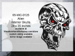 05-WC-0125 - Alien Warrior Skull Halloween Pattern