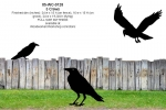 fee plans woodworking resource from WoodworkersWorkshop® Online Store - crows,ravens,birds,wildlife,blackout silhouettes, two old crows live here,Halloween shadows,yard art,painting wood crafts,scrollsawing patterns,drawings,plywood,plywoodworking plans,woodworkers projec