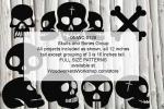 Skulls and Bones Group Yard Art Woodworking Pattern, skulls,crossbones,skeletons,Halloween,yard art,painting wood crafts,scrollsawing patterns,drawings,plywood,plywoodworking plans,woodworkers projects,workshop blueprints