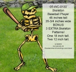 Skeleton Baseball Player Yard Art Woodworking Pattern