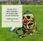 05-WC-0131 - Baby Skeleton Yard Art Woodworking Pattern