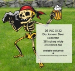 Buckaneer Beer Skeleton Yard Art Woodworking Pattern