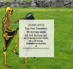 Top Hat Skeleton Yard Art Woodworking Pattern