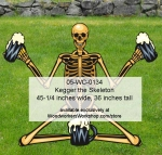 Kegger Skeleton Yard Art Woodworking Pattern