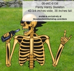 Pardy Hardy Skeleton Halloween Yard Art Woodworking Pattern