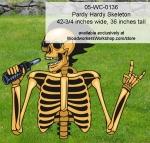 Pardy Hardy Skeleton Halloween Yard Art Woodworking Pattern