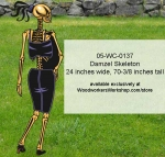 05-WC-0137 - Damzel Skeleton Halloween Yard Art Woodworking Pattern