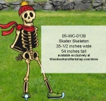 05-WC-0139 - Skater Skeleton Yard Art Woodworking Pattern