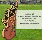 05-WC-0142 - Musician Skeleton Bass Player Yard Art Woodworking Pattern