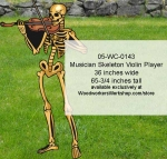 05-WC-0143 - Musician Skeleton Violin Player Yard Art Woodworking Pattern