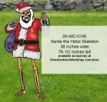 Santa the Hobo Skeleton Halloween Yard Art Woodworking Pattern