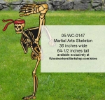05-WC-0147 - Martial Arts Skeleton Yard Art Halloween Woodworking Pattern